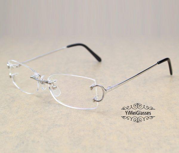 CT4193826 Cartier Classic C Decor Rimless Metal Optical Glasses